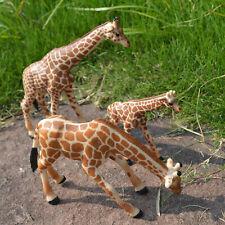Realistic Plastic Giraffe Figurines Set Wild Animal Educatinoal Models Kids Toys