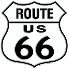 """Route 66 Black White 11"""" Highway Shield Metal Sign Embossed Retro Home Decor"""