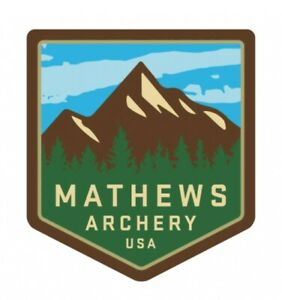 NEW MATHEWS ARCHERY GREEN MOUNTAIN BADGE STICKER, 2-PACK