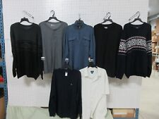 7 SWEATERS ADULT MENS XXL LOTS CLOTHING SHIRTS COLLAR BUTTON DOWN 2XL DRI-FIT