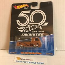 '60's Ford Econoline Pickup * 2018 Hot Wheels 50th Favorites w/ Real Riders