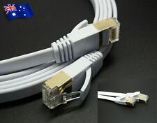 2M Cat7 High Speed RJ45 10Gbps Gold Plated 600Mhz Ethernet Network Cable-White