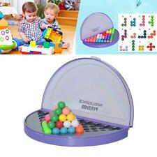 Interesting IQ Pyramid Beads Puzzle Logic Mind Educational Game Toys Purple CAMT