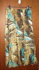 EUC - WOMBAT 100% cotton tropical print flattering full A-line skirt - SZ 14