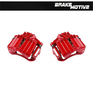 Front Red Brake Calipers For CHEVY MALIBU PONTIAC GRAND AM OLDSMOBILE ALERO