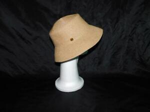 Eric Javits Brown Straw Squishee Hat Bucket Wide Brim Sun Travel Beach Womens