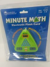 Minute Math Electronic Flash Card Learning Resources Grades 1 - 4 LER 6965 New
