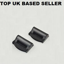 NEGRO SEAT ADJUSTABLE SAFETY BELT STOPPER CLIP VIAJE EN COCHE 2PCS
