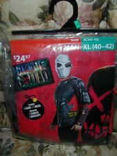 HALLOWEEN COSTUME:Suicide Squad Dead Shot DeadShot Man XL Shirt Mask Cosplay NEW