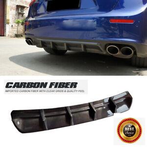 Fit For Maserati Ghibli 2014-2017 Rear Bumper Diffuser Body Kit Carbon Fiber