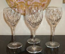 "STUART CRYSTAL CONTESSA 8.5"" WATER GOBLET GLASS SET OF 4"