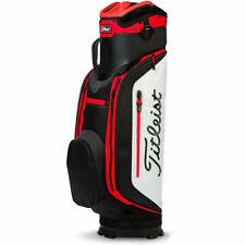 NEW Titleist Club 7 White/Black/Red Lightweight Cart Golf Bag