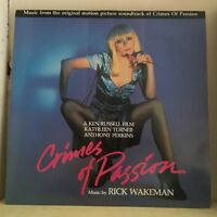 RICK WAKEMAN Crimes Of Passion 1986 UK Vinyl LP EXCELLENT CONDITION soundtrack