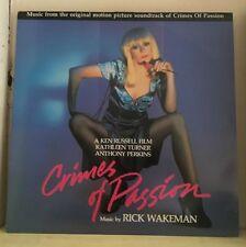 RICK WAKEMAN Crimes Of Passion 1986 UK Vinyl LP EXCELLENT CONDITION soundtrack
