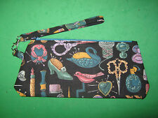 "Wristlet  Purse -""VINTAGE SEWING NOTIONS""  - Handmade"