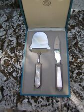 Georg Jensen Pyramid Cheese Plane & knife set sterling  in box