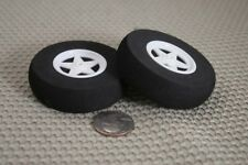 "(2) 2 3/8"" FOAM SPOKE WHEELS TIRE FOR RC AIRPLANE NEW US SELLER"