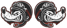 2x WOLF Aufkleber Racing Sticker Motorrad Tank Club 1% V2 Custom Biker TOP MG317