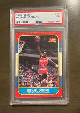 1986 Fleer Basketball Michael Jordan Rookie RC #57 PSA 1, RARE!