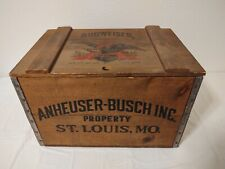 New listing Anheuser-Busch Budweiser Beer Wood Box Crate Case