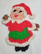 MELTED PLASTIC POPCORN Christmas Mrs. Claus Decoration Unique