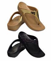 CROCS SLOANE EMBELLISHED FLIP W scarpe donna infradito sandali ciabatte zeppa