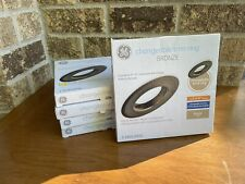 Lot Of 5 Ge Changeable Trim Ring 5to 6 Recessed Bronze Open Box