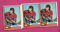 3 X 1974-75 OPC  # 254 CANADIENS PIERRE BOUCHARD  CARD (INV# C6794)