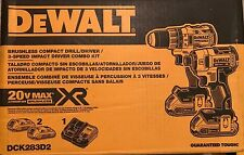 DEWALT DCK283D2 20V 20 Volt Li-Ion Brushless Drill & Impact Driver Set New