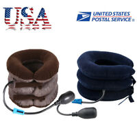 Cervical Collar Neck Shoulders Relax Traction Brace Support Stretcher Inflatable