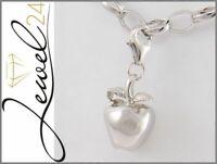 Damen Charm Anhänger echt Silber 925 Sterlingsilber Apfel Einhänger massiv