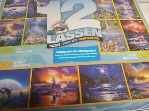 2008  Mega Puzzle 12 Lassen Puzzle Pack Fish Wildlife Beach Scenery 11 sealed