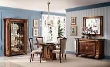 Furniture Table+4x Chair Sets Dining Room Set Wood Complete Baroque Rococo New