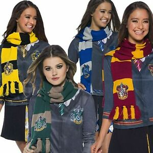 Official Harry Potter Deluxe Scarf Gryffindor Hufflepuff Ravenclaw Slytherin
