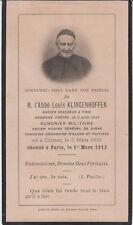 Memento Abbé Louis KLINGENHOFFEN (1857-1913) - Colmar (Haut-Rhin)