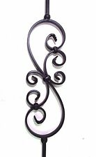 """44"""" SOLID IRON SCROLL BALUSTER STAIR RAIL BLACK *****NEW*****"""