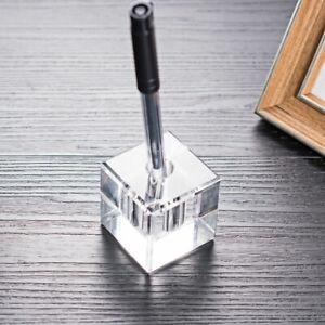 Crystal Pen Holder Pencil Stand Desktop Organizer Decor For Office School Gift