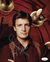 NATHAN FILLION Authentic FIREFLY SIGNED 8X10 Photo In Person AUTOGRAPH JSA COA