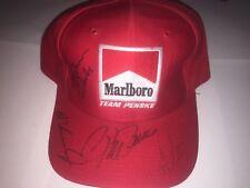 Team Penske Signed Marlboro Hat! PSA LOA! Al Jr, Rick Mears, Roger Penske, Tracy