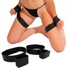 Fantasy Fetish Wrist Thigh Bondage Cuffs Strap Set Rope Restraints HOT