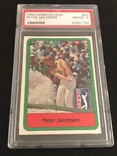 PETER JACOBSEN 1982 DONRUSS GOLF CARD #50 PSA 8
