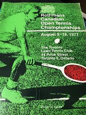1971 - The Rothmans CANADIAN OPEN Tennis CHAMPIONSHIP  Program