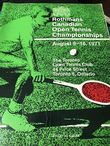 1971 - The Rothmans CANADIAN OPEN Tennis CHAMPIONSHIP  Program