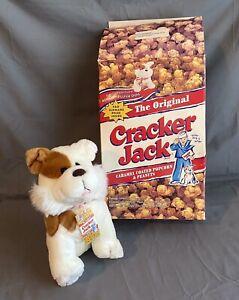 Vtg CRACKER JACK FAO SCHWARZ BINGO Plush Puppy Dog Stuffed Toy Box ORIG