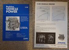 1987 1988 PERKINS VEHICLE POWER 4.236 TRUCK LORRY ENGINE BROCHURE / LEAFLET