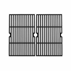 """16.5"""" Cast Iron Grill Cooking Grates, Heat Retaining, Non-Stick Surface"""