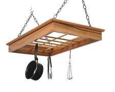 Pot Rack in Solid Red Oak, HPRRO, Laurel Highlands Wood Shop, Ready to Hang