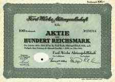 Ford Werke AG 1941 colonia peschereccio linoln Dearborn Budapest Guernsey 100 DM IG colori