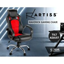 Artiss Gaming Chair Office Computer Leather Chairs Racer Executive Seat Mesh