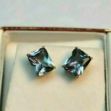 8.99 + CT WOMANS EARRINGS RUSSIAN WELL TEST REAL LAB ALEXANDRITE COLOR CHANGE